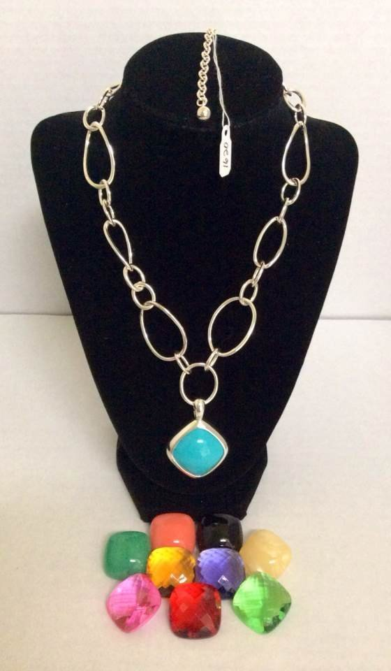 """Joan Rivers 20"""" Silver Tone Necklace and 10 Colors"""