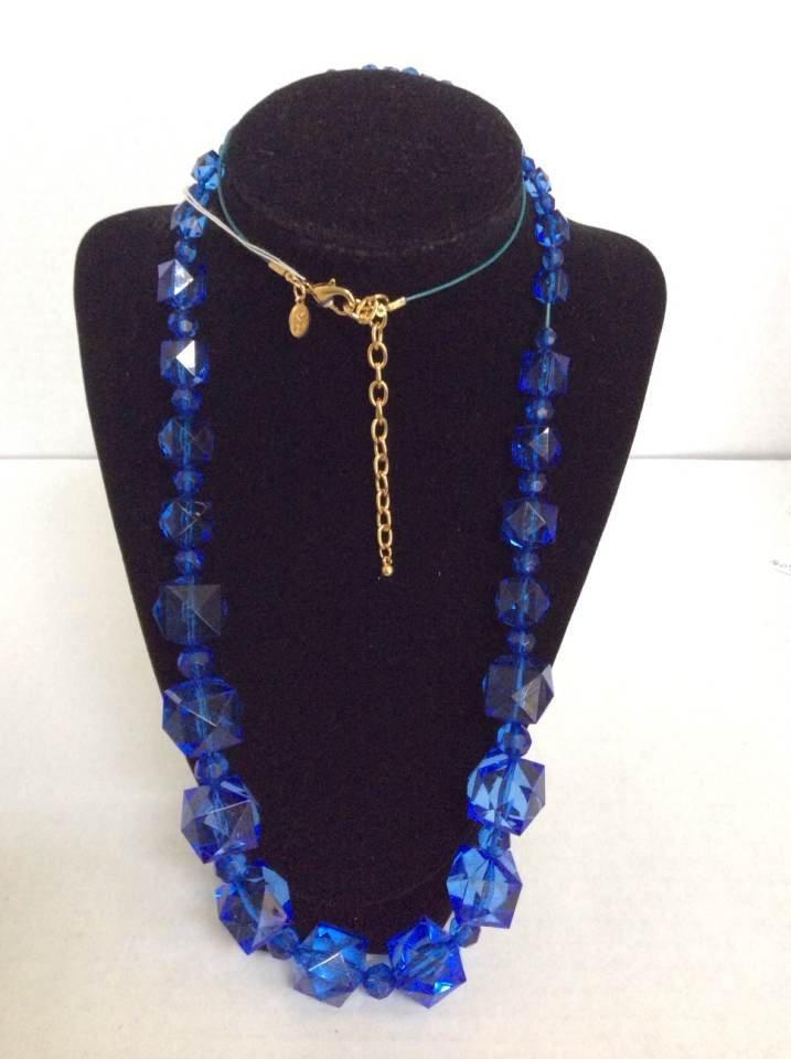 "Joan Rivers 36"" Navy Blue Custom Necklace"
