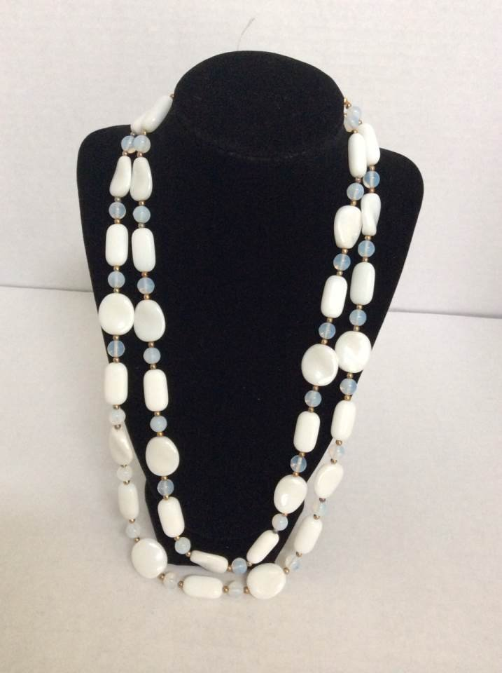 "Joan Rivers 50"" White Custom Necklace"