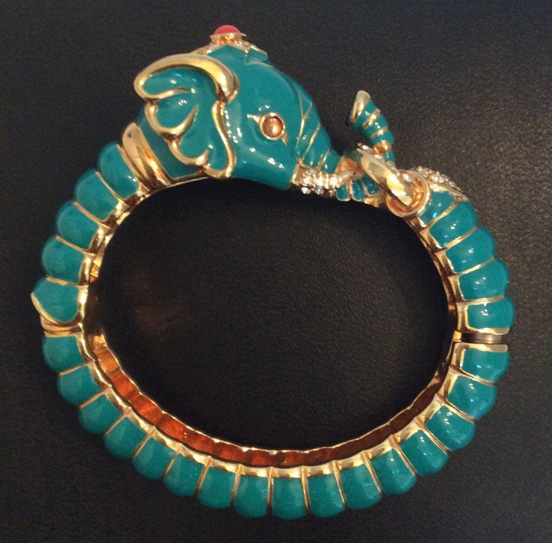 Joan Rivers Blue Elephant Custom Bangle Bracelet
