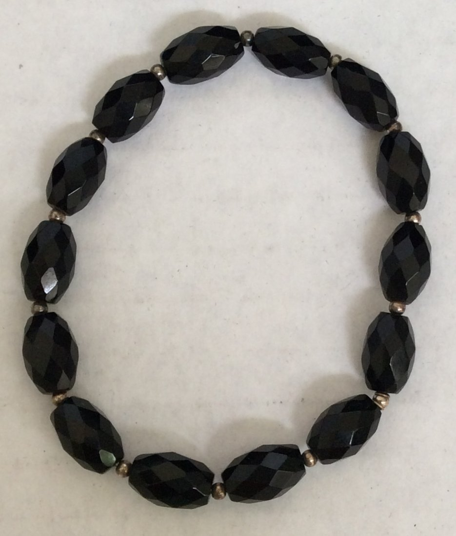 Black Stones Elastic Custom Bracelet