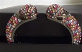 Joan Boyce Kissable Pavé Crystal Multicolor Cuff