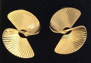 Tuleste Gold Tone Twisted Earrings