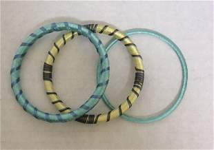 3 Set Blue and Green Thread Bracelet Made in India