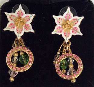 Lunch at the Ritz 2GO Gold Finish Lily Earrings