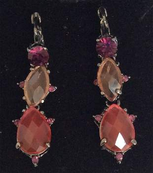 Joan Rivers Multicolor Beads Custom Earrings