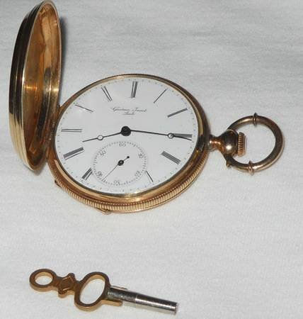 14k Gold Pocket Watch Gustave Jacot