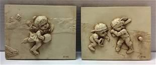 1974 Russ Berrie & Co ZYG Wall Sculptures