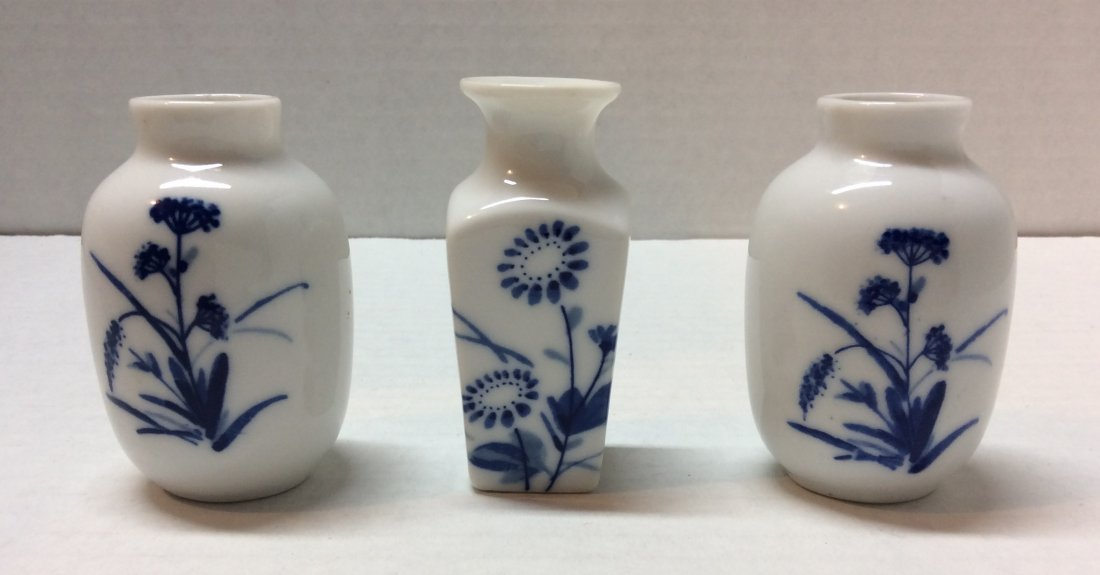 3 Set Chinese Miniature Vases