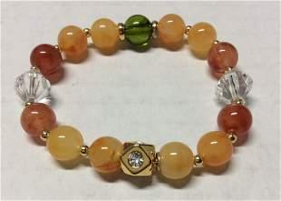 Multicolor Beads Stretch Bracelet