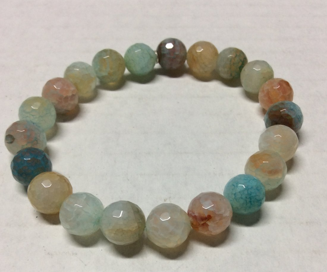 Pastel Colors Gemstones Stretch Bracelet