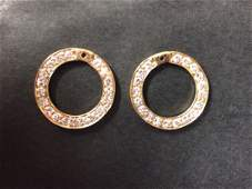 Diamond Earring Jackets by Rosenthal