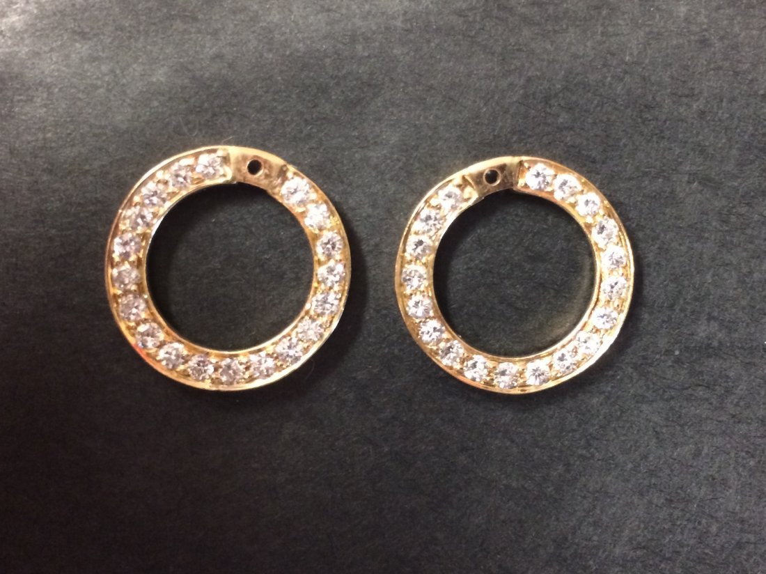 Diamond Earring Jackets by Rosenthal