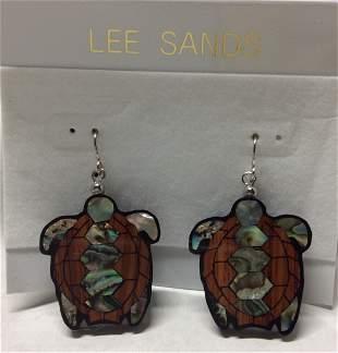 Lee Sands Turtle Earrings