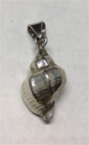 .925 Sterling Conch Style Pendant