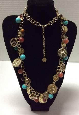 """39"""" Graziano Multicolor Beads Necklace"""