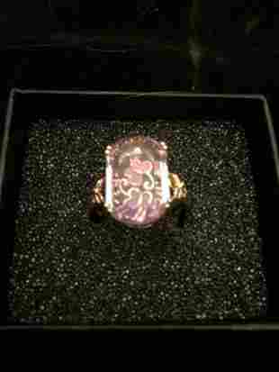 14k Gold Ring with Amethyst