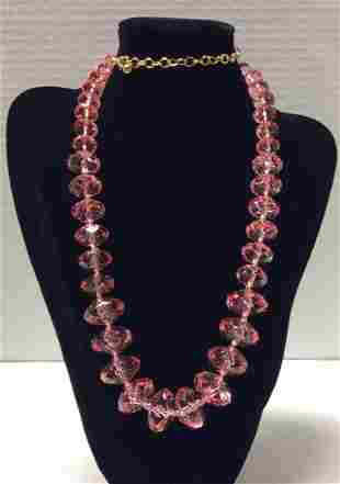"""33"""" Joan Rivers Pink Beads Necklace"""