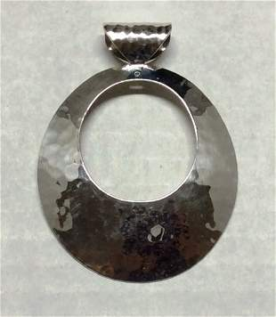 """.925 Sterling Silver 3"""" Round Pendant"""