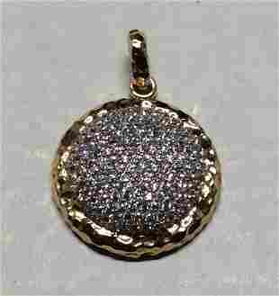 .925 Sterling Silver Round Pendant