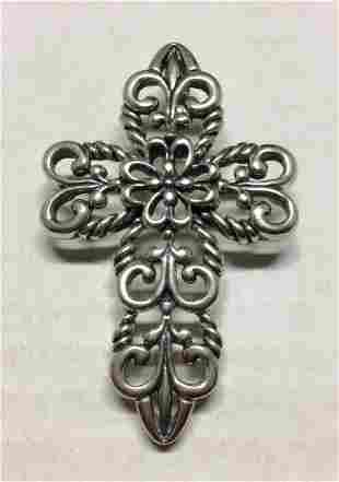 ".925 Sterling Silver 3"" Cross Pendant"