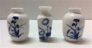 3 Set Chinese Miniature Vases