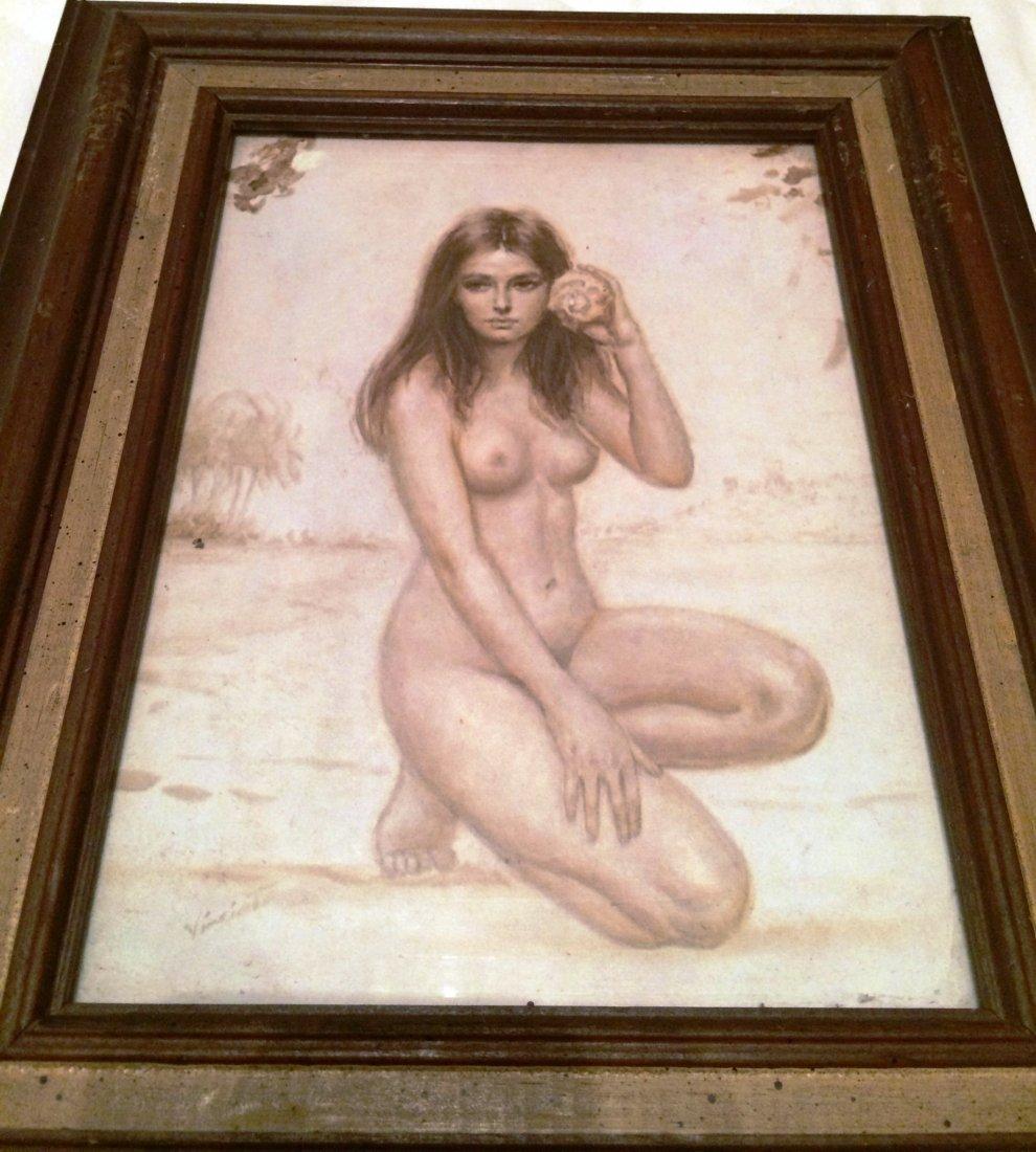 "Nude Joseph Wallace King Vinciata Naked 6"" x 8"" Print - 2"