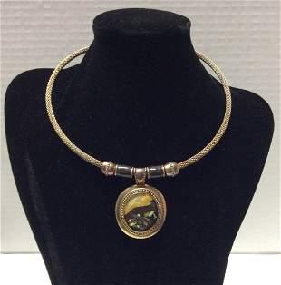 KC Brass ToneNecklace and Pendant