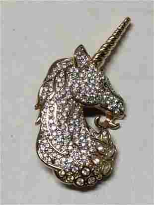 Swarovski Stones Unicorn 1996 Brooch - Discontinued