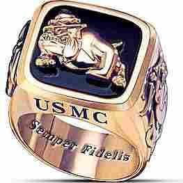 USMC Semper Fi Marine Corps Men Ring - Size 11