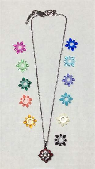 Joan Rivers Necklace with Interchangeable Colors