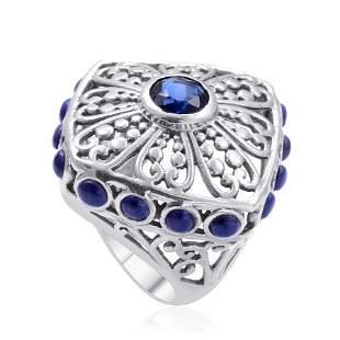 Lapis Lazuli Ring in Sterling Silver Nickel Free - Size