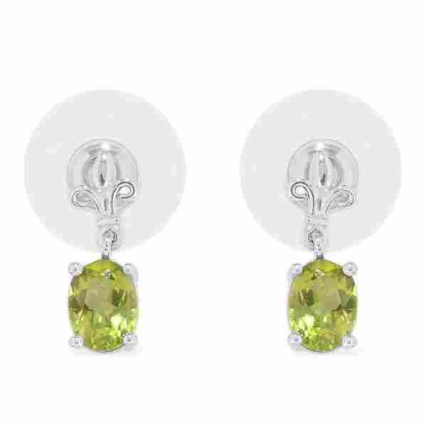 Sterling Silver Hebei Peridot Earrings