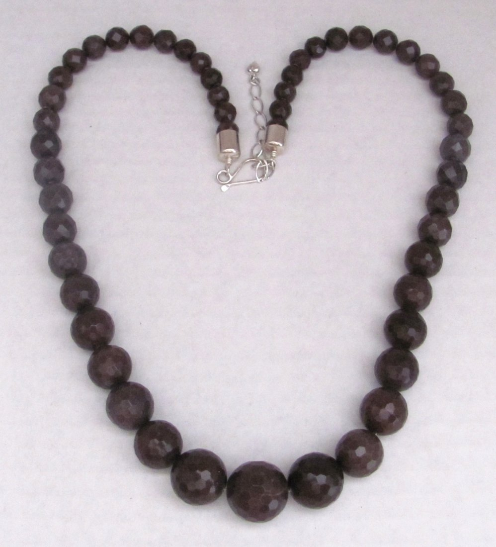 "28"" ""Jay King"" Gemstone Necklace .925 Sterling Clasp"