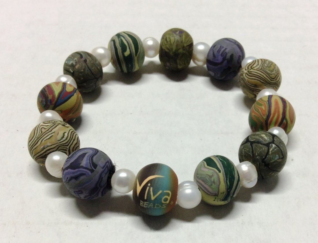 Viva Beads Multicolor Stretch Bracelet
