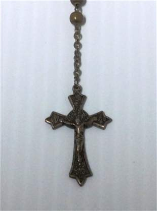 Brass Tone Small Rosary