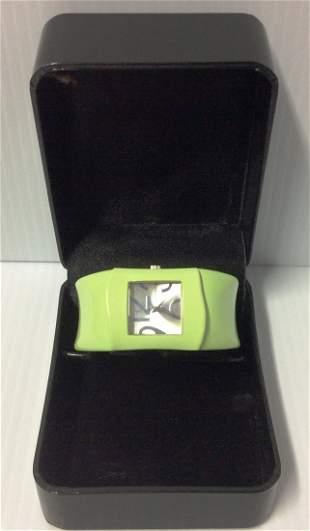 Gossip Light Green Cuff Bracelet Women Watch
