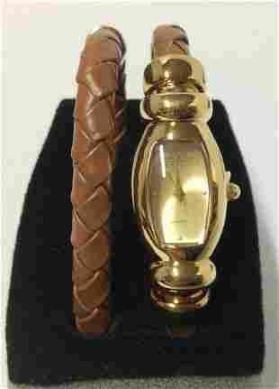 Joan Rivers Brown Leather Women Watch & Extra Bracelet
