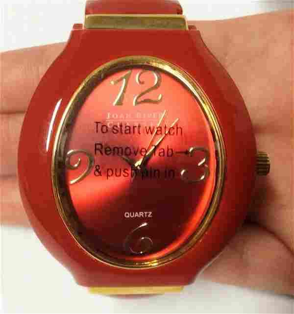 Joan Rivers Red & Gold Tone Women Watch