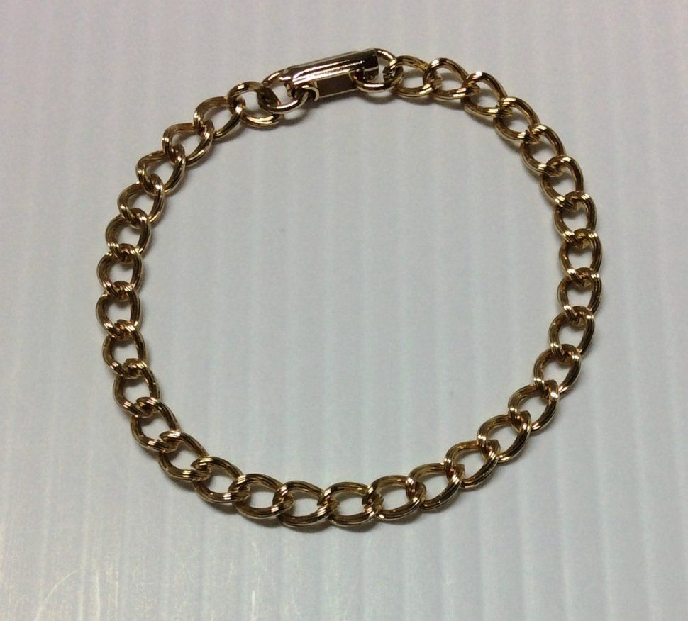 Gold Tone Links Bracelet