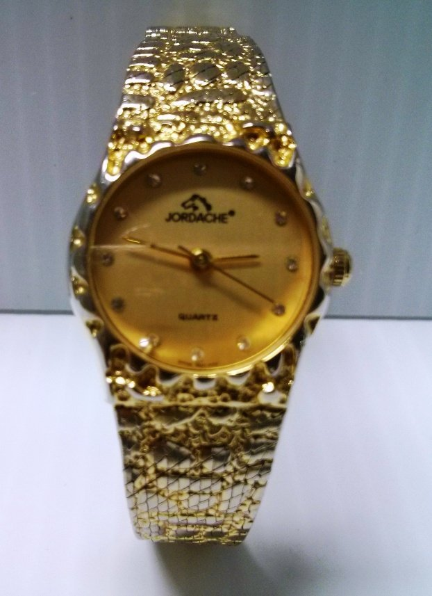 Jordache Gold Tone Quartz Watch