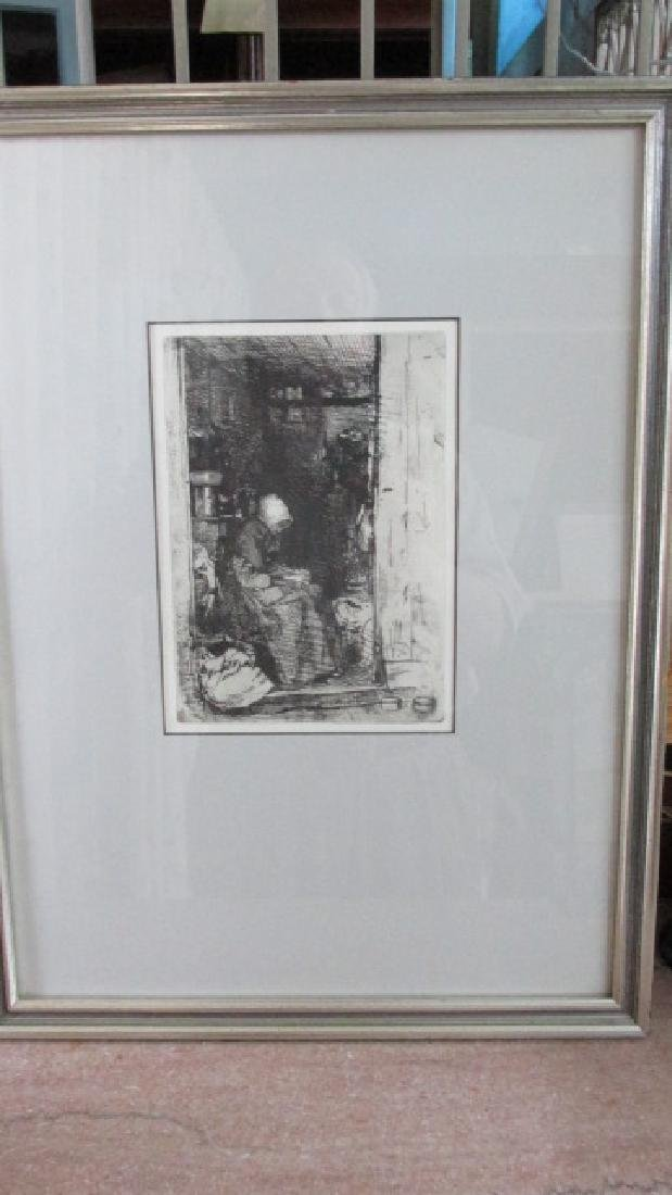 LaVieille Aux Loques Whistler Engraving