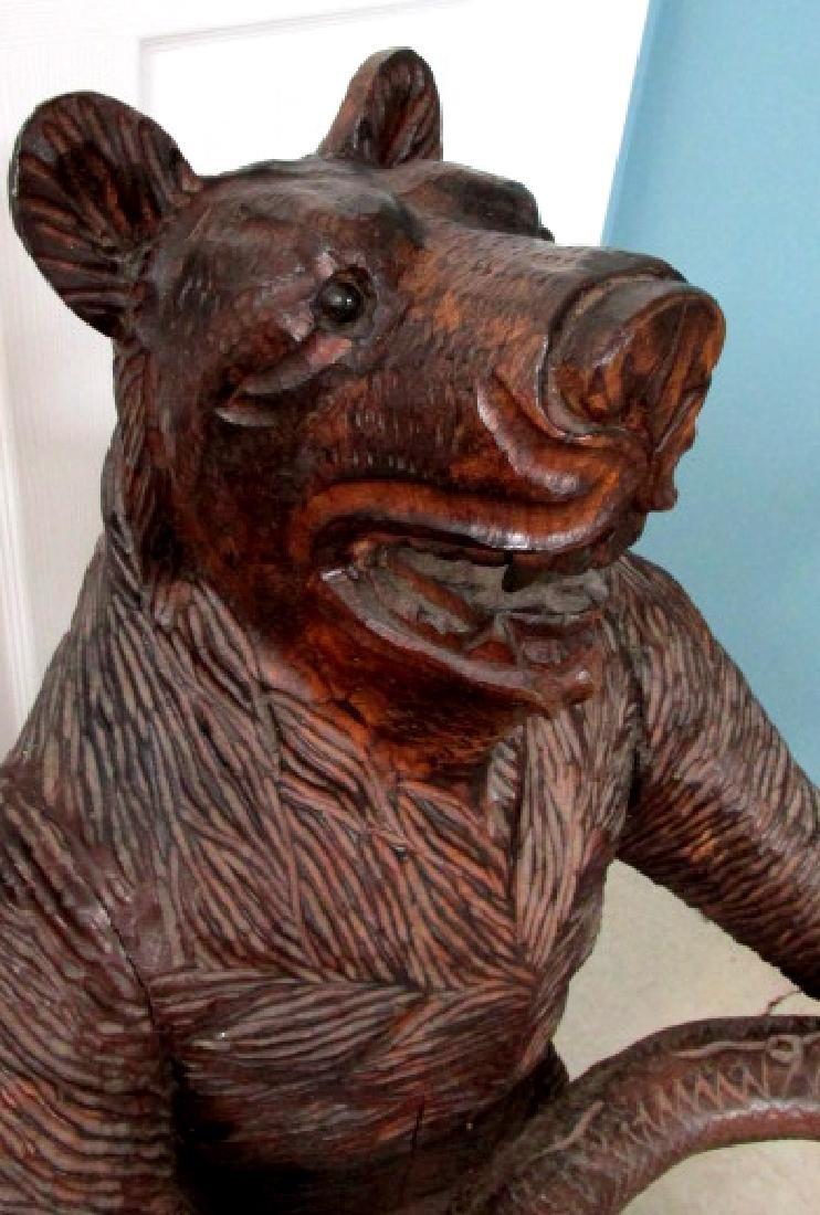 Black Forest Carved Bear Figure