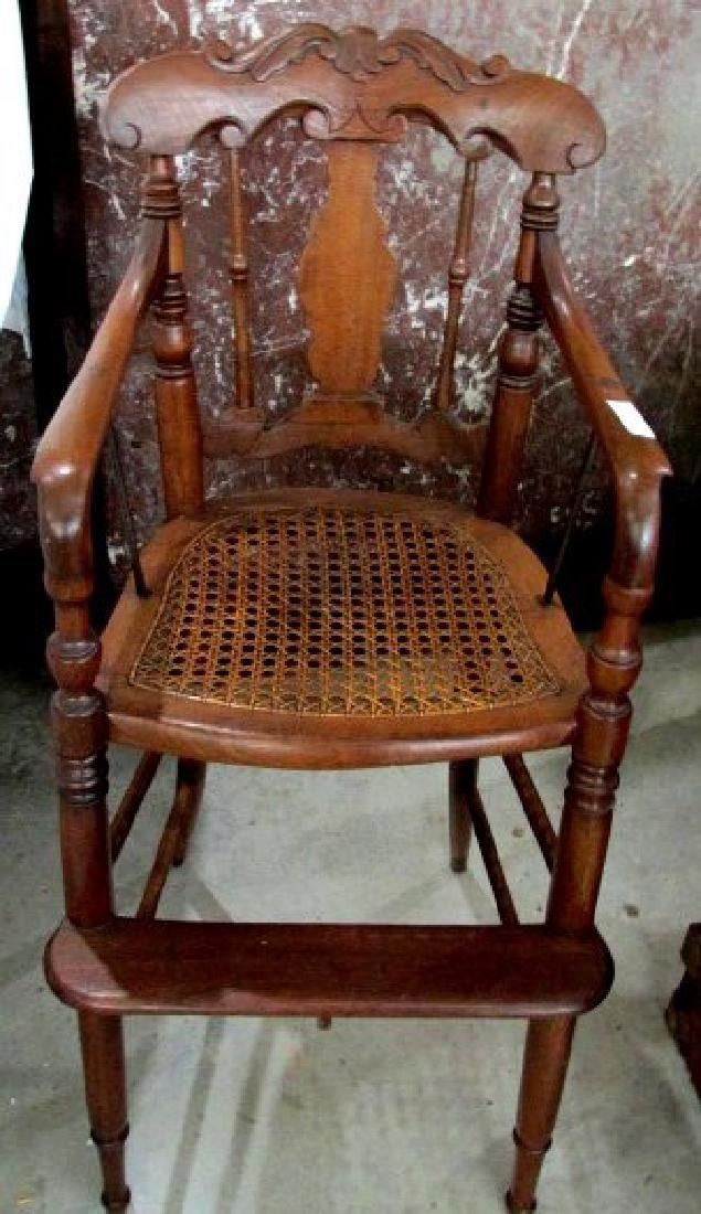 Walnut 19th Cent. Childs High Chair