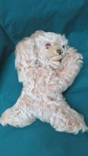 """7"""" Steiff Antique Mohair Animal Doll Open Mouth No"""
