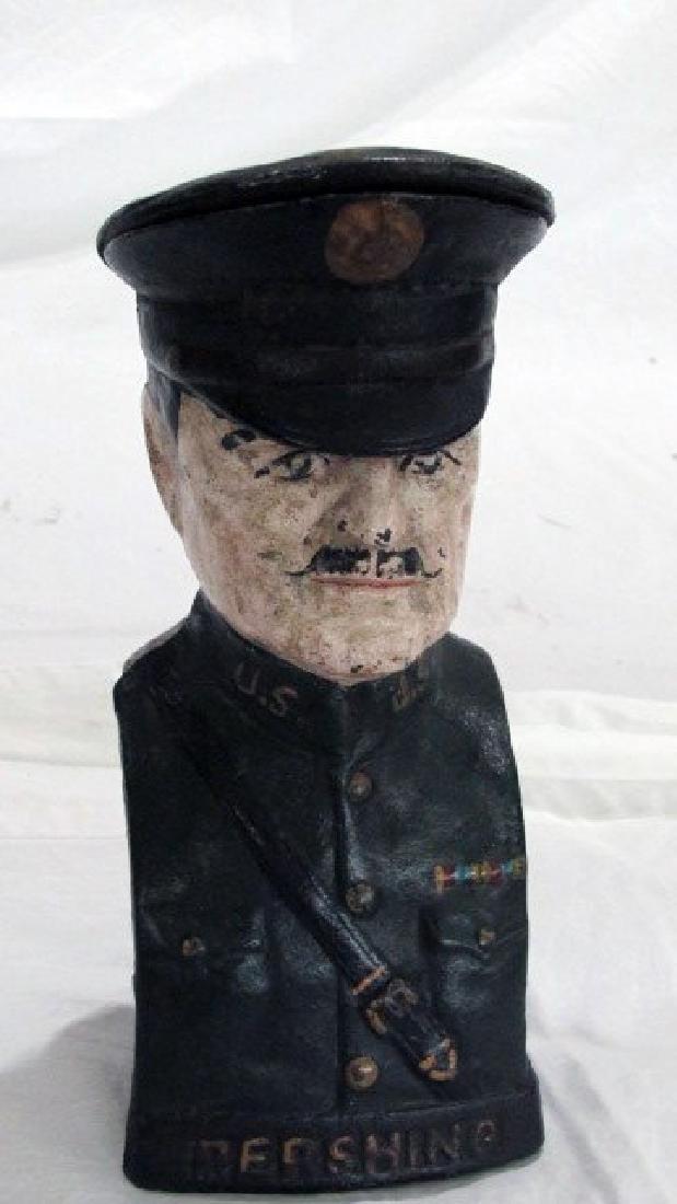 Gen. Pershing Cast Iron Still Bank