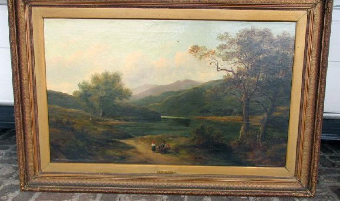 A Welch Lake John Barland O/C Painting