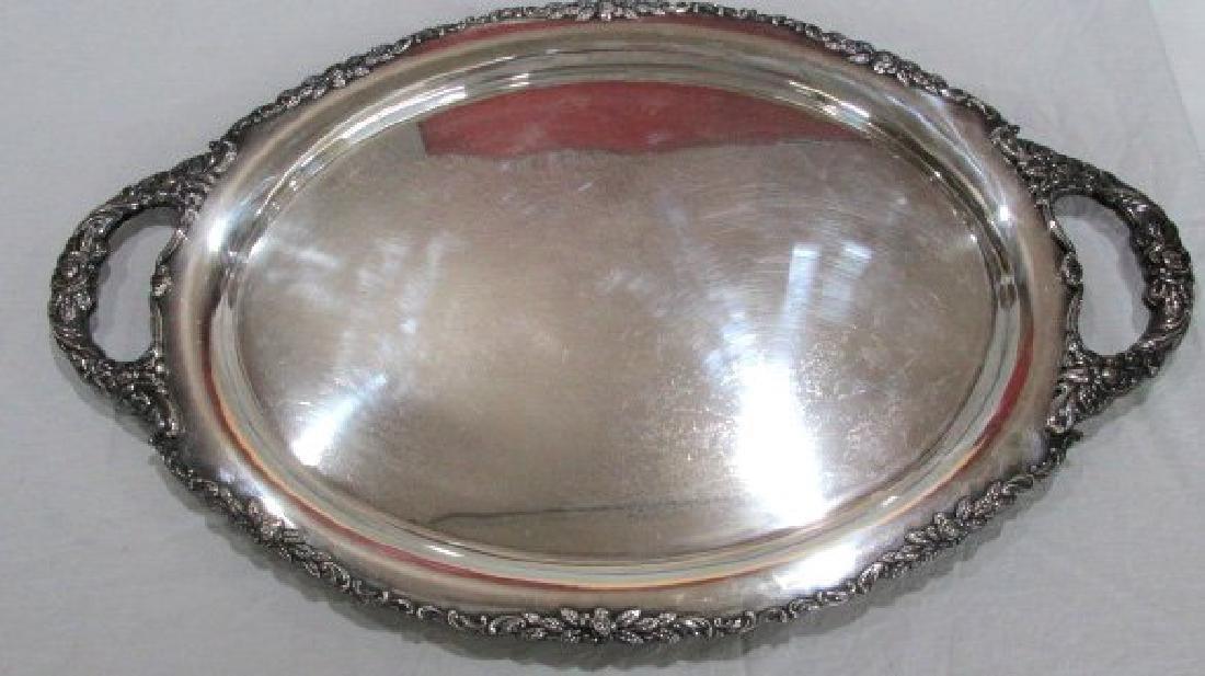 Nickel Silver Large Tray w/Handles