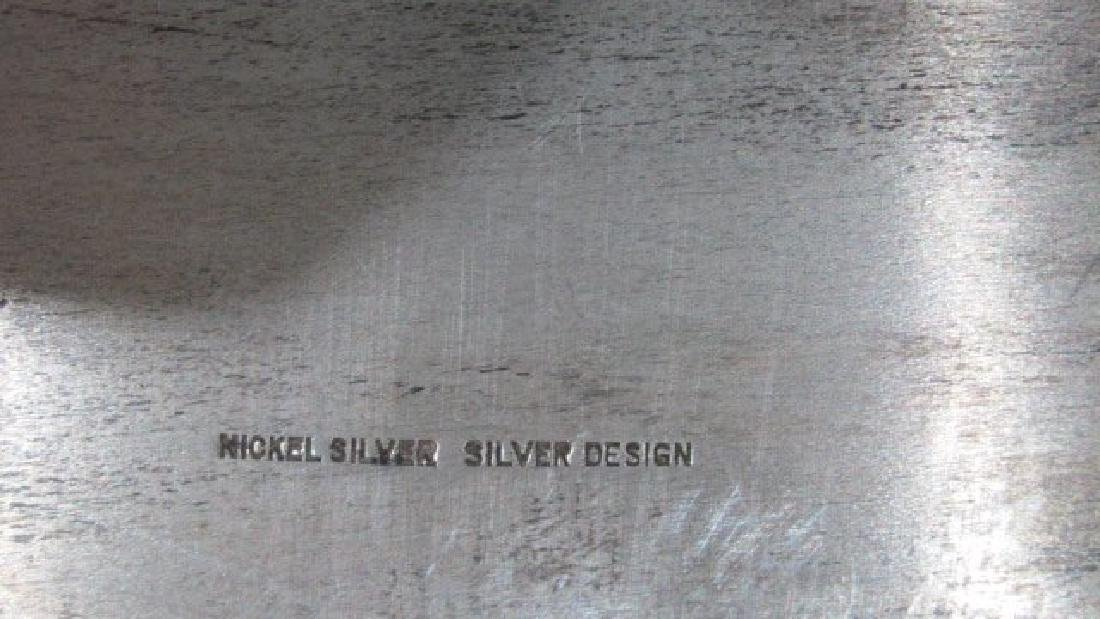 Nickel Silver Large Tray w/Handles - 3