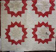 19th Cent. Red Star Quilt East Tenn.